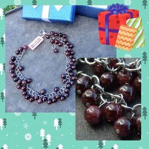 Jewelry - Pyrope & Almandine Garnet Gemstone Anklet